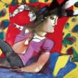 Dimitris Mitaras - Female figure - painting