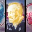 Joe Brockerhoff - Kurt Masur, trriptychon . painting