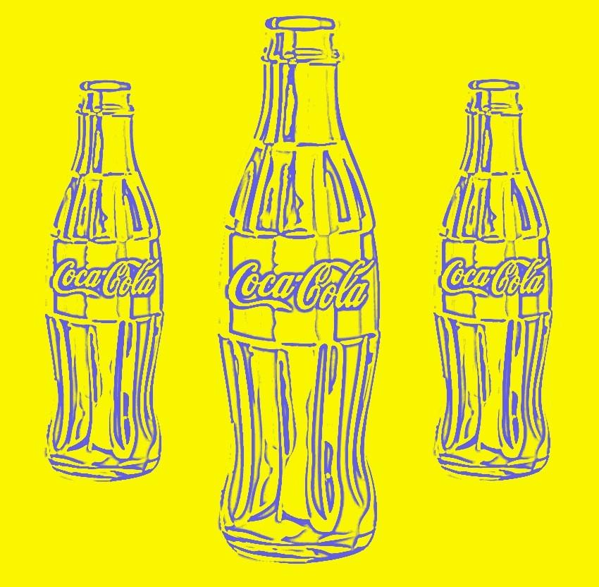 A.P. Astra-Coca Cola (blue on yellow)-The three Magi