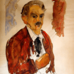Bouzianis self portrait - watercolour