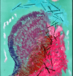 Walter Lindgens - Treibgut - painting, assemblage