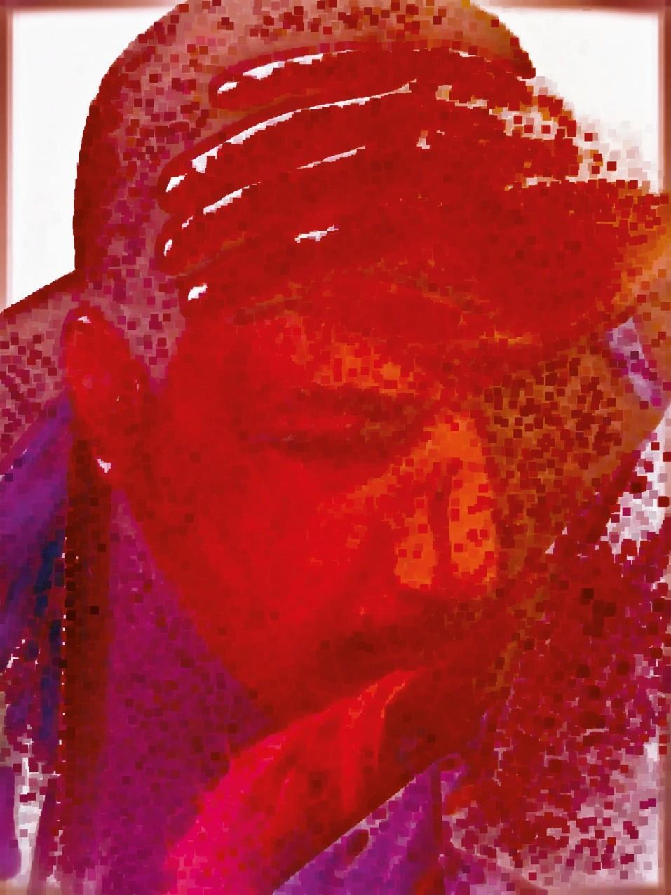 LEON FONTANA - Bloody Spring - BAD LIFE - mixed media (c) ArtForum Editions
