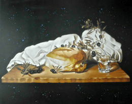 Angelos Our basic food genesis of the workd painting  - Gallery