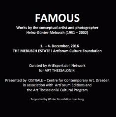 Contribution Hommage à Heinz G. Mebusch Ostrale on Art Thessaloniki - Contribution - Hommage à Heinz-G. Mebusch - Ostrale on Art Thessaloniki