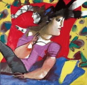 Dimitris Mitaras Female figure painting - Gallery