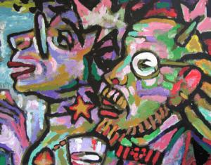 Goguadze art critics detail painting 300x235 - Gallery