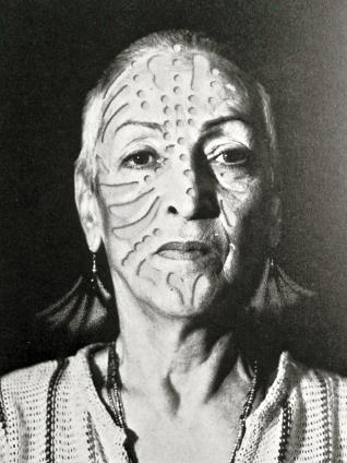 Heinz-Günter Mebusch-Portrait of Meret Oppenheim.