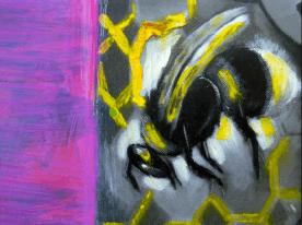 Heinz Zolper aus Jahreszyklus detail mixed media - Gallery