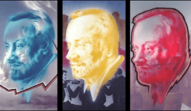 Joe Brockerhoff Kurt Masur trriptychon . painting - Joe Brockerhoff - Kurt Masur, trriptychon . painting