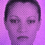 John C.B. Moore - o.T (Purple Grid Face) -chromogenic photo print