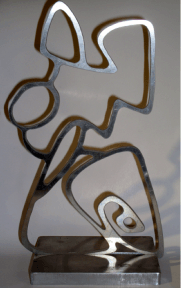 Mike Jansen Abstract figure polished steel - Gallery