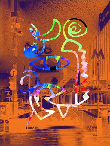 Mike Jansen MetroMusic Moscow digital print mixed media - Mike Jansen - MetroMusic Moscow - digital print, mixed media