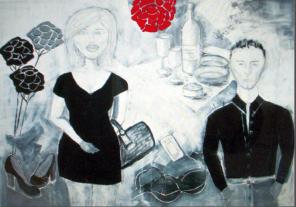 Ursula Reinsch Cicolettas Herzklopfen painting - Gallery