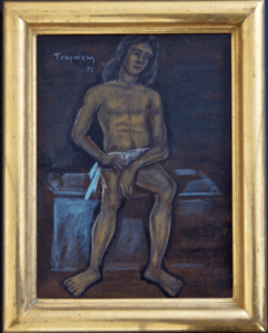 Yannis Tsarouchis Black Angel painting 241x300 - Gallery