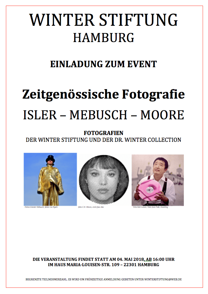 WINTER STIFTUNG POSTER Fotografien 2018 - Winter Stiftung: Contemporary photography