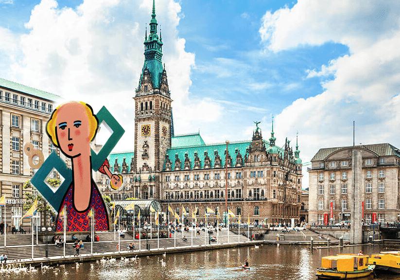 Zolper Dame Skulptur vor Rathaus Hamburg Entwurf - Zolper > Dame Skulptur > vor Rathaus Hamburg > Entwurf