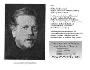 Georg fertig 300x234 - Honour for artist Heinz Zolper