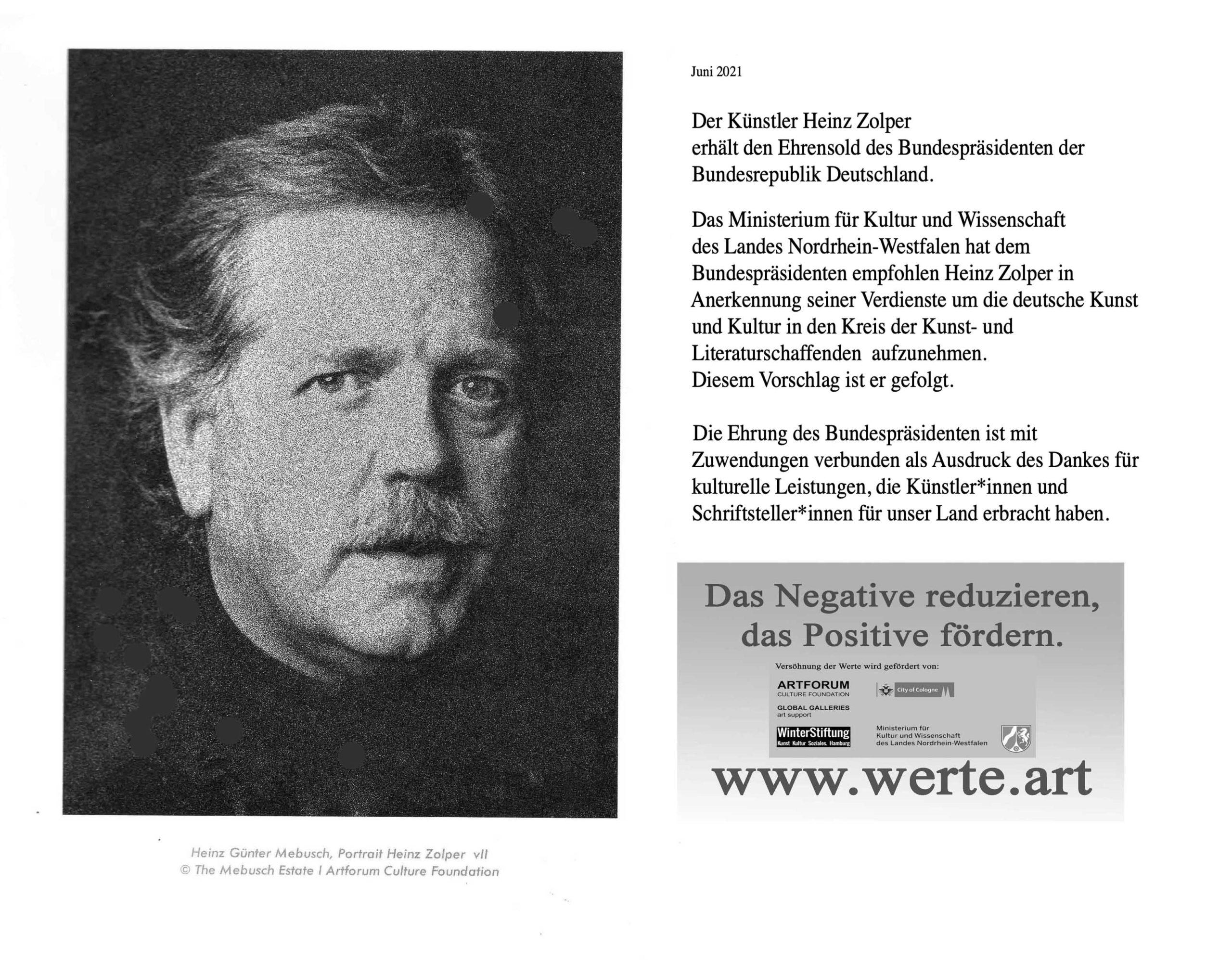 Georg fertig scaled - Honour for artist Heinz Zolper